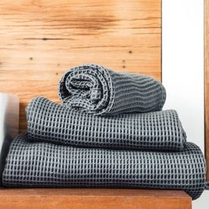 COPY C Waffle Towels Set 3 Bamboo Lyocell Ettitude